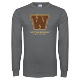 Charcoal Long Sleeve T Shirt-Western Michigan University w/ W
