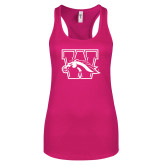 Next Level Ladies Raspberry Jersey Racerback Tank-W w/ Bronco