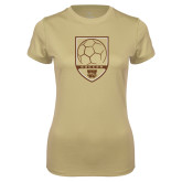 Ladies Syntrel Performance Vegas Gold Tee-Soccer Shield