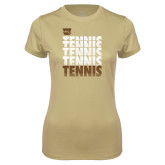 Ladies Syntrel Performance Vegas Gold Tee-Tennis Repeated