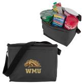 Six Pack Grey Cooler-WMU w/ Bronco Head