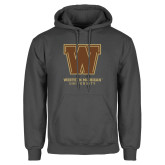 Charcoal Fleece Hoodie-Western Michigan University w/ W