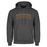Charcoal Fleece Hoodie-Arched Western Michigan Broncos
