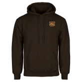 Brown Fleece Hoodie-W w/ Bronco