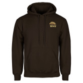Brown Fleece Hoodie-WMU w/ Bronco Head