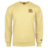 Champion Vegas Gold Fleece Crew-WMU w/ Bronco Head