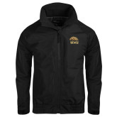 Black Charger Jacket-WMU w/ Bronco Head