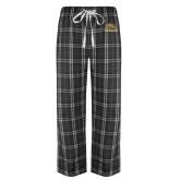 Black/Grey Flannel Pajama Pant-Broncos w/ Bronco Head