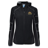 Columbia Ladies Sweet As Softshell Black Jacket-Broncos w/ Bronco Head
