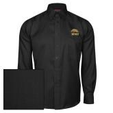 Red House Black Herringbone Long Sleeve Shirt-WMU w/ Bronco Head
