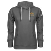 Adidas Climawarm Charcoal Team Issue Hoodie-WMU w/ Bronco Head