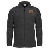 Columbia Full Zip Charcoal Fleece Jacket-W w/ Bronco
