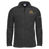 Columbia Full Zip Charcoal Fleece Jacket-Broncos w/ Bronco Head