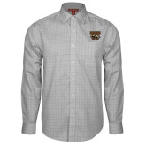 Red House Grey Plaid Long Sleeve Shirt-W w/ Bronco
