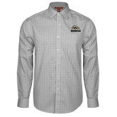 Red House Grey Plaid Long Sleeve Shirt-Broncos w/ Bronco Head