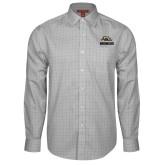 Red House Grey Plaid Long Sleeve Shirt-Broncos w/ Bronco Head
