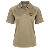 Ladies Vegas Gold Textured Saddle Shoulder Polo-W w/ Bronco