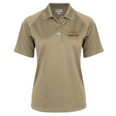 Ladies Vegas Gold Textured Saddle Shoulder Polo-Broncos w/ Bronco Head