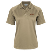 Ladies Vegas Gold Textured Saddle Shoulder Polo-WMU