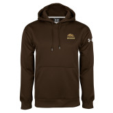 Under Armour Brown Performance Sweats Team Hoodie-Broncos w/ Bronco Head