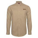 Red House Tan Long Sleeve Shirt-WMU