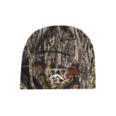 Mossy Oak Camo Fleece Beanie-W w/ Bronco
