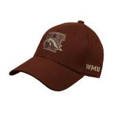 Brown Heavyweight Twill Pro Style Hat-W w/ Bronco