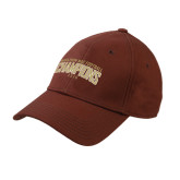 Brown Heavyweight Twill Pro Style Hat-Marathon MAC Football Champions 2016