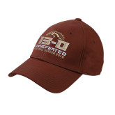 Brown Heavyweight Twill Pro Style Hat-Undefeated Season 13-0 Football 2016