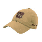 Vegas Gold Twill Unstructured Low Profile Hat-W w/ Bronco