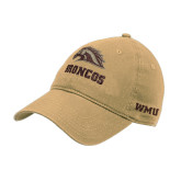 Vegas Gold Twill Unstructured Low Profile Hat-Broncos w/ Bronco Head