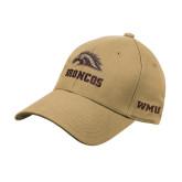Vegas Gold Heavyweight Twill Pro Style Hat-Broncos w/ Bronco Head