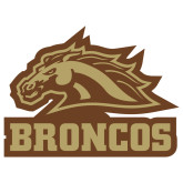 Extra Large Magnet-Broncos w/ Bronco Head, 18 inches wide