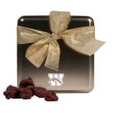 Decadent Chocolate Clusters Gold Medium Tin-W w/ Bronco Engraved