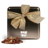 Deluxe Nut Medley Gold Medium Tin-W w/ Bronco Engraved