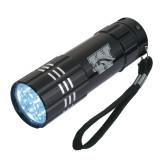 Industrial Triple LED Black Flashlight-W w/ Bronco Engraved