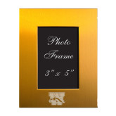 Gold Brushed Aluminum 3 x 5 Photo Frame-W w/ Bronco Engraved