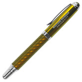 Carbon Fiber Gold Rollerball Pen-Western Michigan University Engraved