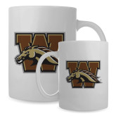 Full Color White Mug 15oz-W w/ Bronco