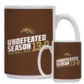 Full Color White Mug 15oz-Undefeated Season Football 2016