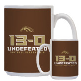 Full Color White Mug 15oz-13-0 Undefeated Football Season 2016