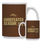 Full Color White Mug 15oz-Undefeated Season 13-0 Football 2016