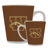 Full Color Latte Mug 12oz-W w/ Bronco