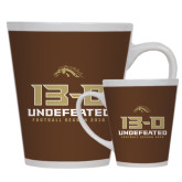 12oz Ceramic Latte Mug-13-0 Undefeated Football Season 2016