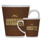 12oz Ceramic Latte Mug-Undefeated Season 13-0 Football 2016