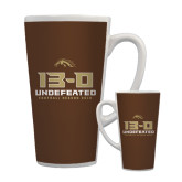 Full Color Latte Mug 17oz-13-0 Undefeated Football Season 2016