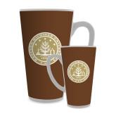 Full Color Latte Mug 17oz-WMU Seal Gold
