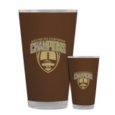 Full Color Glass 17oz-2016 Marathon MAC Football Champions