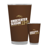 Full Color Glass 17oz-Undefeated Season Football 2016