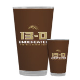 Full Color Glass 17oz-13-0 Undefeated Football Season 2016